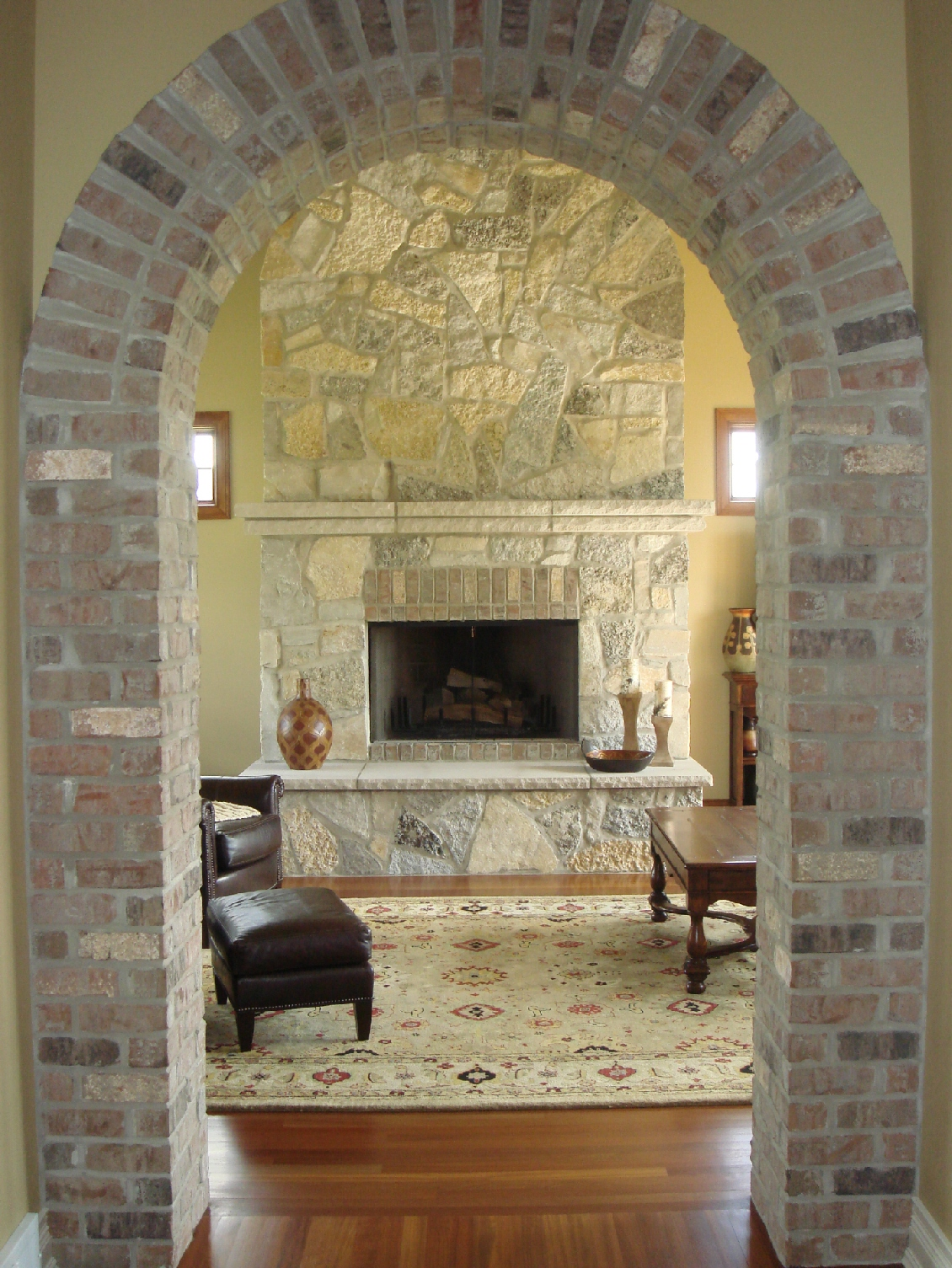 1000 images about brick wall archway on pinterest for Internal arch